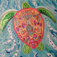 Blinged Out Sea Turtle