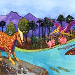 """Dinosaur Scene"" by lindalou2"
