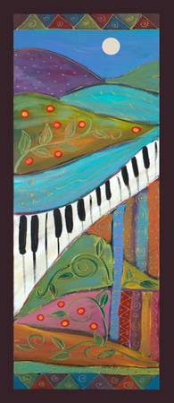 Lyrical Colors PANELS-Dancing piano left-Karen Lee