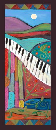 Lyrical Colors PANELS-Dancing piano right-Karen Le