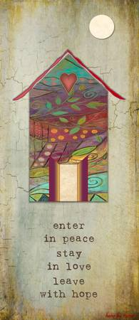 Rustica PANELS-Enter in peace-Karen Lee Turner