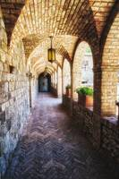 Archways Of A Tuscan Castle In Napa Valley