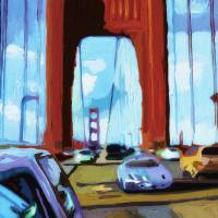 Golden Gate Drive Art Prints & Posters by Russ Wagner