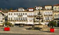 Camoes square in Ponte de Lima, Portugal