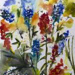 """Texas Blue Bonnets and Indian Paintbrush"" by GinetteCallaway"