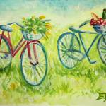 """Sweet Bike Ride Picnic"" by ElizaArt"
