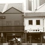 """city Singapore in monochrome, old city street"" by sghomedeco"