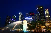 original color series, City by night Singapore