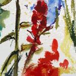 """Abstract Texas Indian Paintbrush"" by GinetteCallaway"