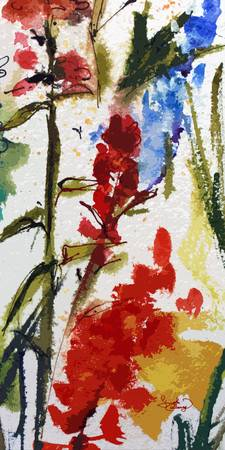 Abstract Texas Indian Paintbrush