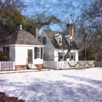 Yule Cottage Art Prints & Posters by Shari Nees