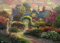 Garden House_Thomas Kinkade insperation_53x38