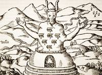 Moloch, copy of an illustration from 'Oedipus Aegy