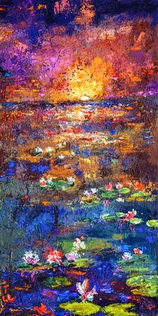 Sunset Lily Pond