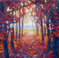 autumn-path-to-a-better-place-painting by Gill Bus