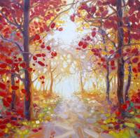 king-of-autumn-painting by Gill Bustamante, www.gi