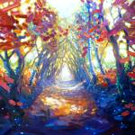 """""""woodland-path-to-somewhere-wonderful painting by G"""" by gillymissile"""
