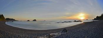 False Klamath Cove Sunset Panorama