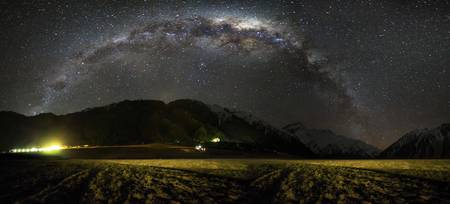 Aoraki, Mount Cook Milky Way Panorama