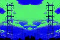 High Voltage Towers Green