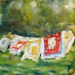 """Vintage Linens out to Dry"" by susanejones"