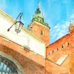 """Wawel Castle Gate & Sigismund Tower"" by ShaSha"