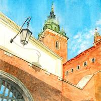 Wawel Castle Gate & Sigismund Tower