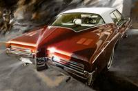 1971-Buick Riviera in Maroon