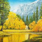 """Autumn Trees Merced River Yosemite"" by DNCartist"