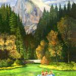 """Rafting in Yosemite"" by DNCartist"