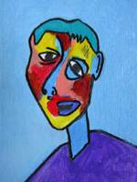 abstract cubism face 2