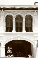 Old  Architecture, Bugis Singapore, monochrome