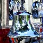 """Fire Engine Bell Closeup"" by susansartgallery"