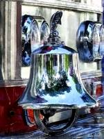 Fire Engine Bell Closeup