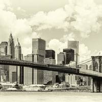 Brooklyn Bridge and Downtown Manhattan Art Prints & Posters by Travis Price