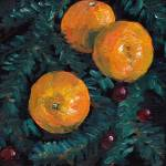 """Christmas clementines and cranberries"" by zurika"