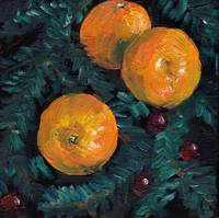 Christmas clementines and cranberries