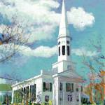 """Church in New Canaan, Connecticut"" by BeaconArtWorksCorporation"