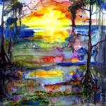 """Magic Sunrise in the Okefenokee Georgia"" by GinetteCallaway"