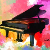 Colorfull Piano Art Prints & Posters by Irena Orlov