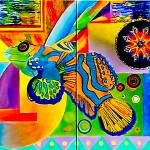 """Vincent Green Mandarin Goby"" by 1kelton"