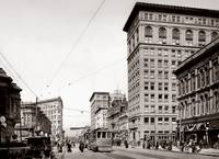 Oakland, Broadway to 13th Street c1920 by WorldWide Archive