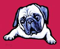 pop art dog  -  stylised drawing poster