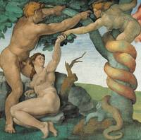 Adam and Eve, Detail of the Sistine Chapel