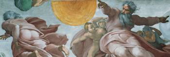 Creation of the Sun and Moon, Detail of the Sistin
