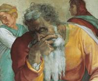 Jeremiah the Prophet, Detail of the Sistine Chapel