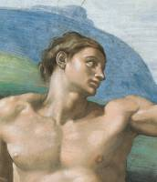Detail of Adam from the Sistine Chapel