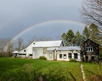 Double Rainbow Over Barn