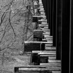 """Railroad Ties on Trestle Bridge"" by foxvox"