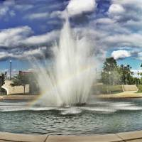 Big Spring Park Fountain Huntsville AL HDR Art Prints & Posters by Kyle Ferguson